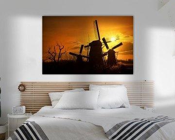 Windmühlen Kinderdijk von Ton de Jong
