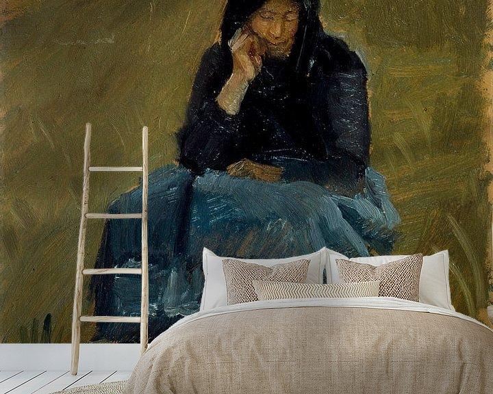 Beispiel fototapete: Eine Feldpredigt. Figurenstudie, Anna Ancher