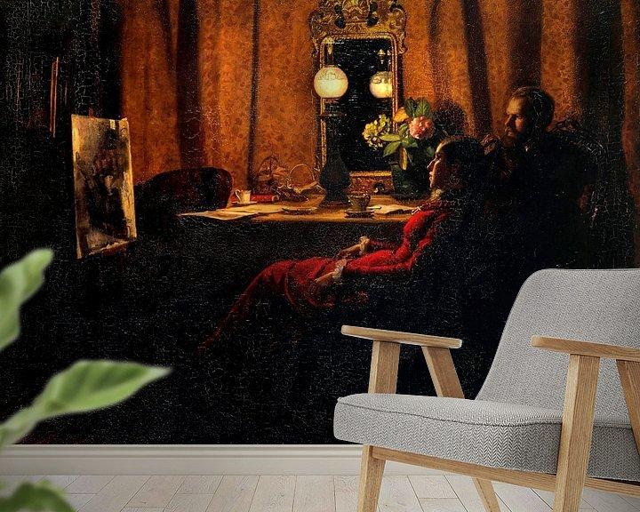 Beispiel fototapete: Bewertung der Arbeit des Tages, Michael Ancher, Anna Ancher