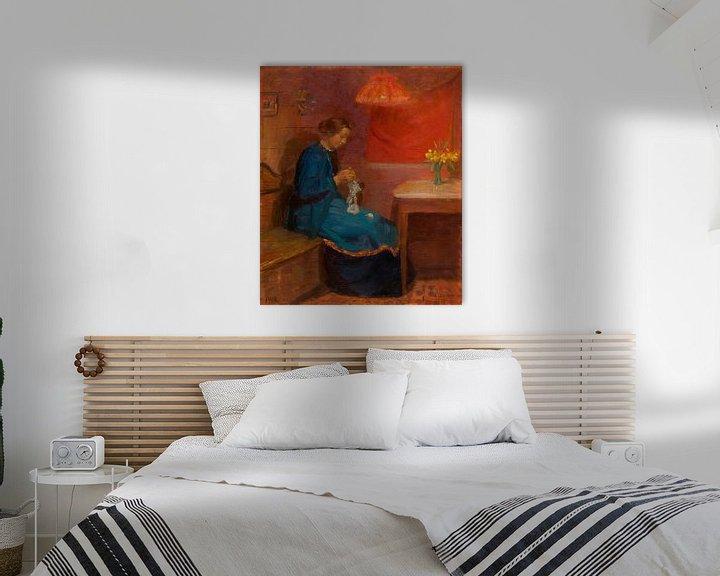 Beispiel: Frau mit ihrer Handarbeit, Anna Ancher