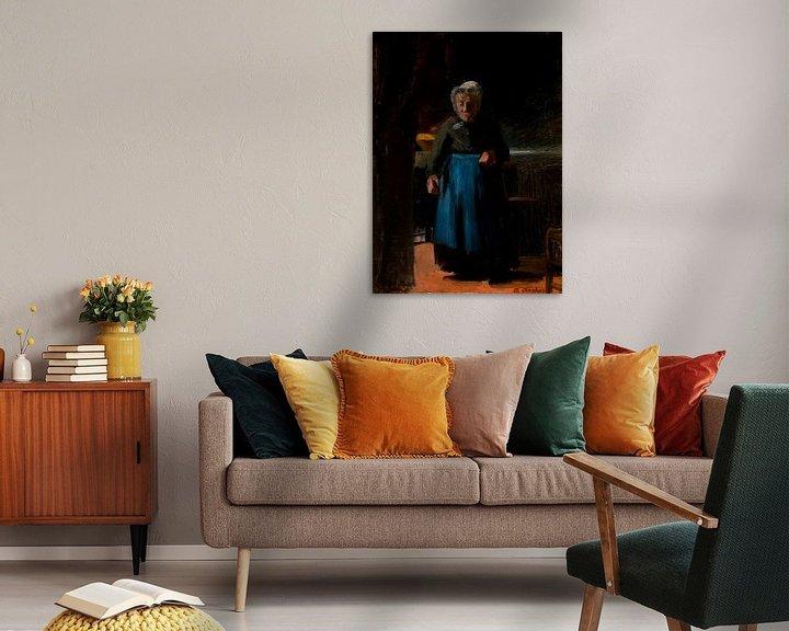 Beispiel: Alte Frau in einer Küche, Anna Ancher