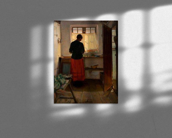 Beispiel: Das Dienstmädchen in der Küche, Anna Ancher