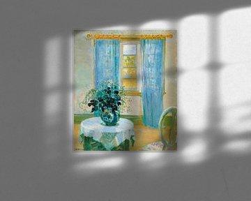 Innenraum mit Klematis, Anna Ancher