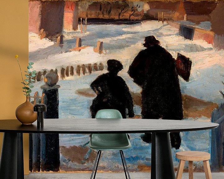 Beispiel fototapete: Michael Ancher auf dem Weg zu seinem Atelier in Begleitung der Organistin Helene Christensen, Anna A