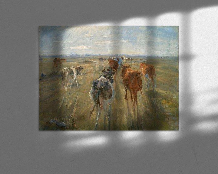 Beispiel: Lange Schatten. Rinder auf der Insel Saltholm, Theodor Philipsen