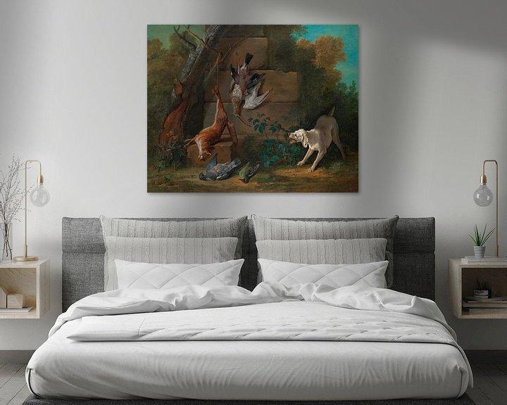 Beispiel: Hund bewacht totes Wild, Jean-Baptiste Oudry