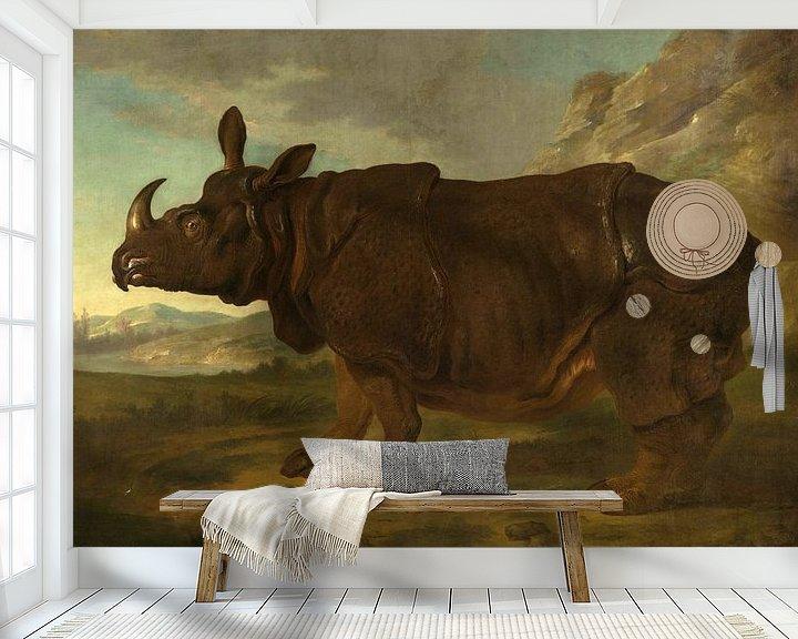 Beispiel fototapete: Nashorn, Jean-Baptiste Oudry