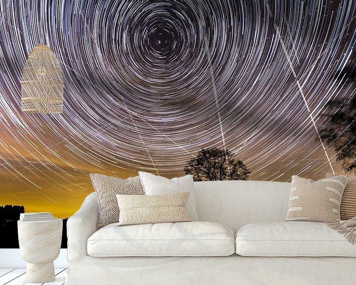 Beispiel fototapete: Sternspuren in Luxemburg von Micle de Greef
