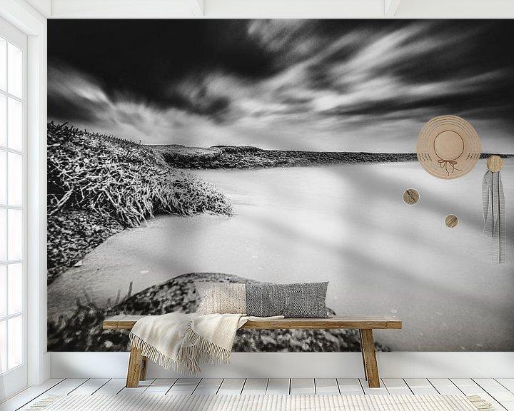 Sfeerimpressie behang: Contrastrijk Nederlands water landschap van Fotografiecor .nl