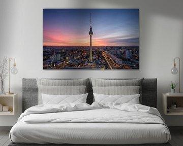 Berlijnse skyline van Robin Oelschlegel