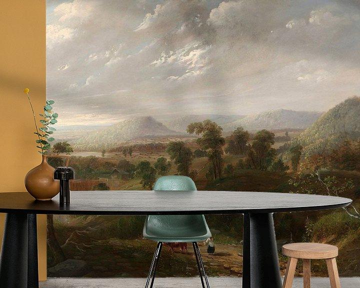 Beispiel fototapete: Sturmwolken, Berkshires, George Inness