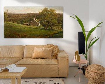 Landschaft mit Bauernhaus, George Inness