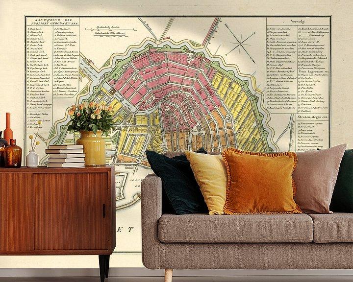 Beispiel fototapete: Karte Amsterdam - 1840
