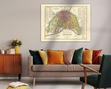 Karte Amsterdam - 1840
