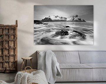 chaîne de montagnes devant le surf sur Ralf Lehmann