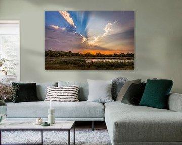 Onweer in Oost-Maarland van Rob Boon