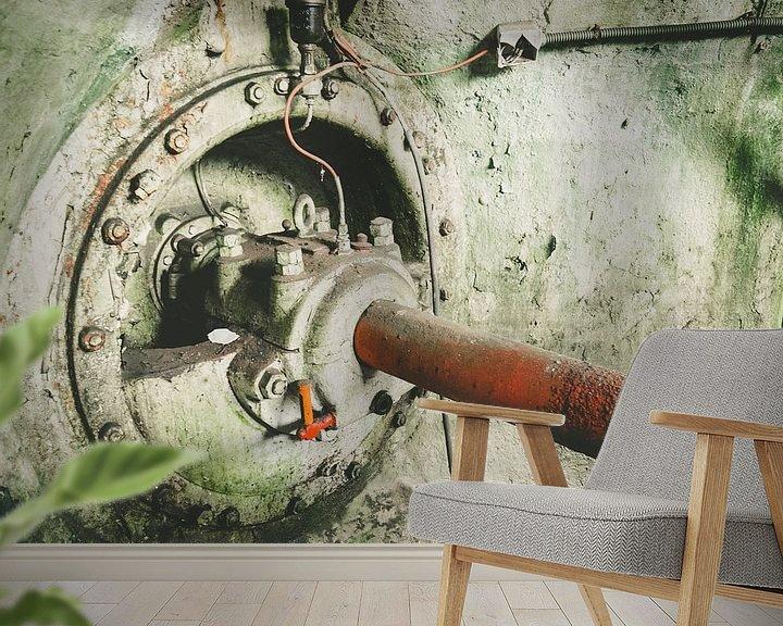 Beispiel fototapete: Urbex-Wasserkraftwerk von Martijn Tilroe