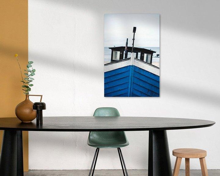 Beispiel: Blaues Boot an Ostseestrand von Florian Kunde