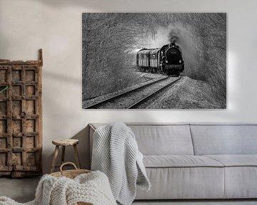 Historischer Dampfzug von Uwe Ulrich Grün