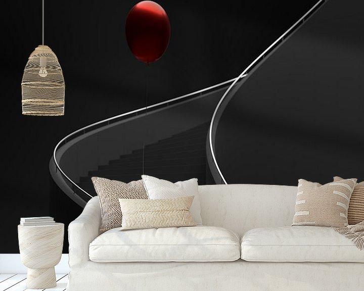 Beispiel fototapete: Wendeltreppe mit Luftballon von Jörg Hausmann