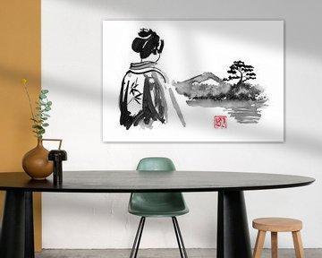 Die Geisha schaut zu von philippe imbert