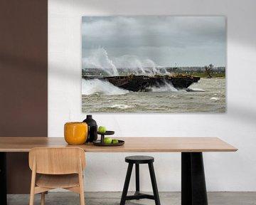 Storm op de Merwede van Arie Jan van Termeij