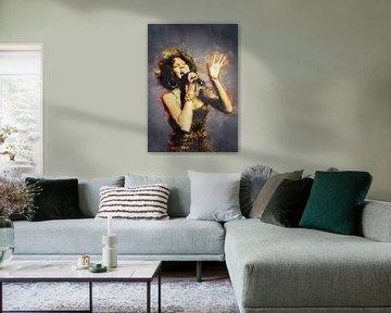Whitney Houston Ölgemälde Porträt von Bert Hooijer