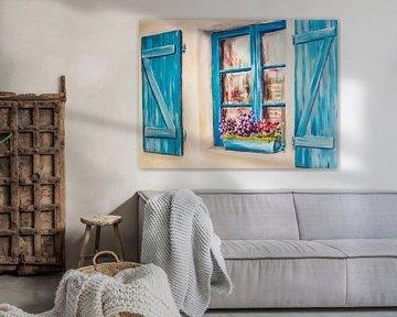 Blaue Fensterläden von Freddy Hoevers