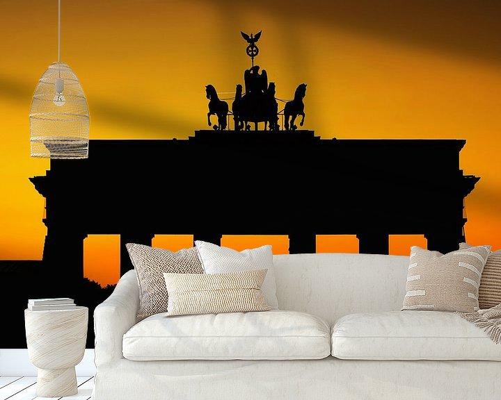 Impression: Silhouette de la porte de Brandebourg sur Frank Herrmann