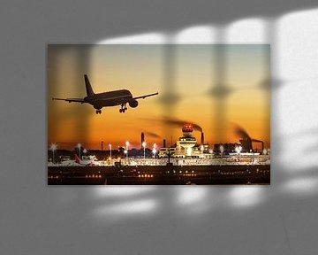 Un avion atterrit à Berlin -Tegel