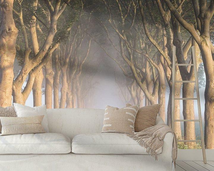 "Sfeerimpressie behang: ""The road to nowhere"" van Karel Ton"