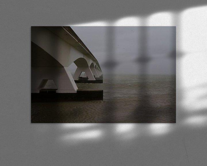 Sfeerimpressie: De Zeelandbrug bij Zierikzee. van tiny brok