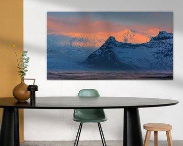 Zonsopkomst Vatnajökull Nationaal Park, IJsland van Henk Meijer Photography