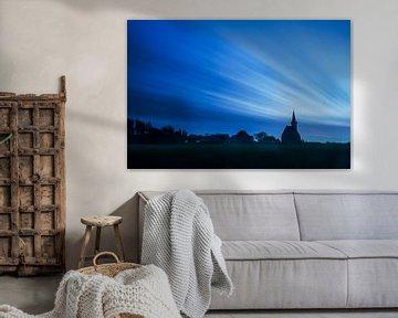 Kerk van Den Hoorn op Texel van Beschermingswerk voor aan uw muur