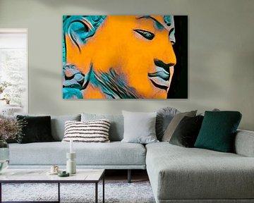Boeddha-obsessie 20201 - Oranje van Michael Ladenthin