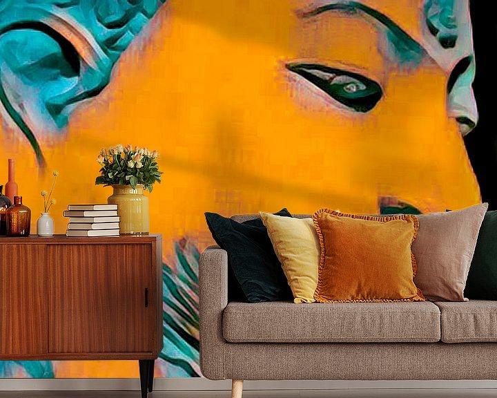 Beispiel fototapete: Buddha Obsession 20201 - Orange von Michael Ladenthin