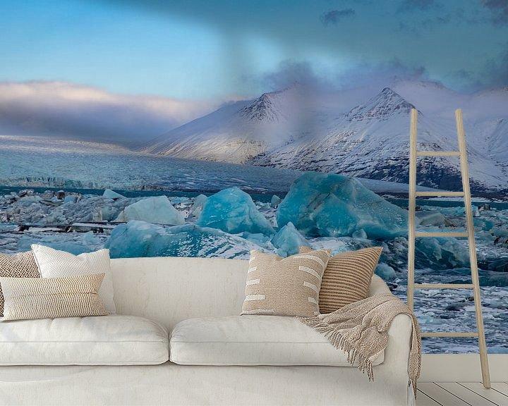 Beispiel fototapete: Landschaft Island, Jökulsárlón und Diamond Beach von Gert Hilbink