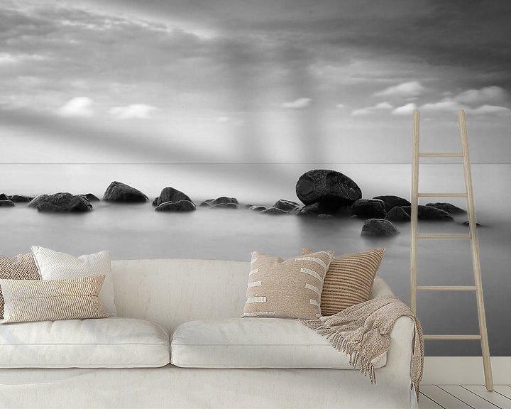 Beispiel fototapete: Steine im Meer von Frank Herrmann
