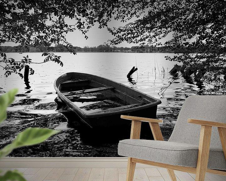 Beispiel fototapete: Ruderboot am See von Frank Herrmann