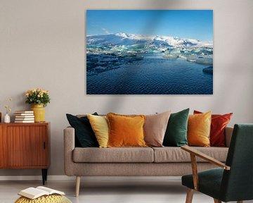 Paysage de l'Islande, Jökulsárlón. Lac glacier et plage de diamants sur Gert Hilbink