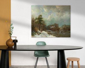 Paysage d'hiver, Pays-Bas, Barend Cornelis Koekkoek