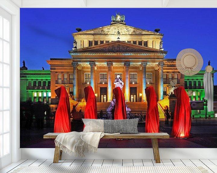 Sfeerimpressie behang: Berlijn Gendarmenmarkt van Frank Herrmann