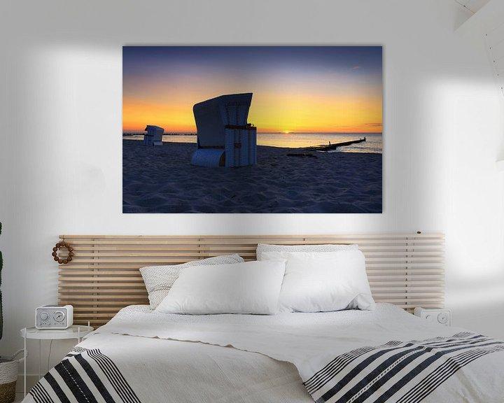 Beispiel: Strandkörbe im Sonnenuntergang von Frank Herrmann