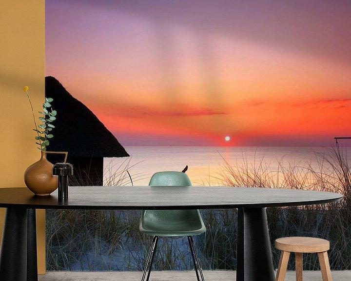 Beispiel fototapete: Hütte am Strand von Frank Herrmann
