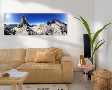 Panorama dans les Dolomites avec les trois sommets