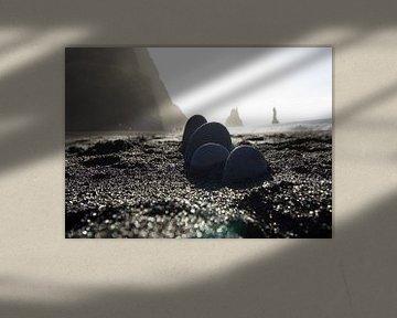 Schwarzer Sandstrand von Reynisfjara von Ingrid Mooij