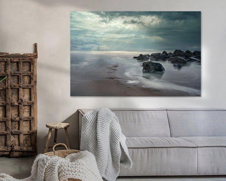 Impression: Le vent, le ciel et la plage sur Alexandra Van den Bossche