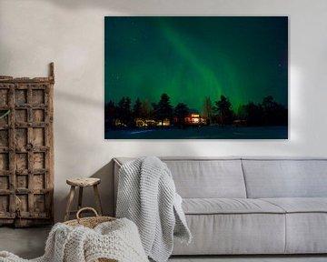 Nordlicht in Lappland von Arnold van Rooij