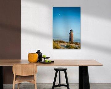Mond und Leuchtturm von Martin Wasilewski