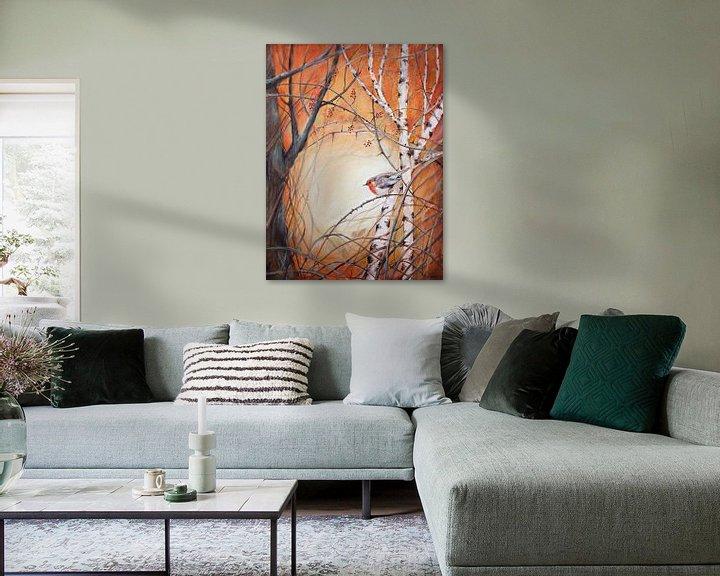 """Beispiel: robin zwischen den Zweigen... """"Hoffnung bringen"""" von Els Fonteine"""